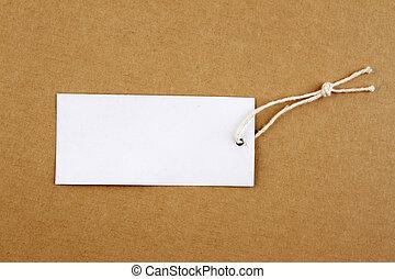 etichetta, cordicella