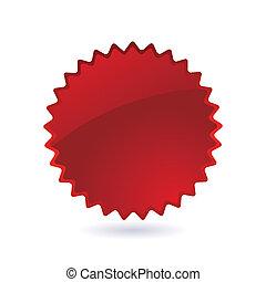 etichetta, rosso, icona