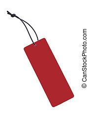 etichetta, rosso