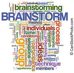 etichette, brainstorm, parola