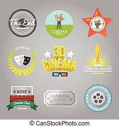 etichette, collezione, cinema