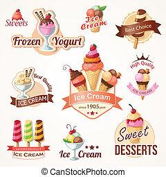 etichette, collezioni, tesserati magnetici, gelato