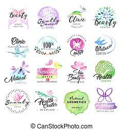 etichette, cosmetica, bellezza