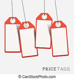 etichette, prezzo, set, vendite