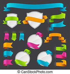 etichette, set, stickers., vettore