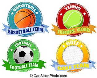 etichette, sport