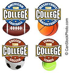 etichette, università, sport's