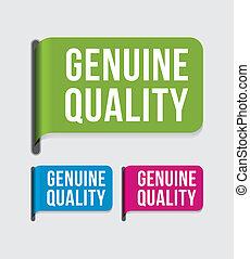 etiket, echt, moderne, %u2013, kwaliteit