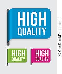 etiket, moderne, hoog, %u2013, kwaliteit