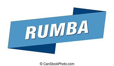etiket, rumba, spandoek, meldingsbord, template., lint