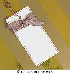 etikett, geschenk
