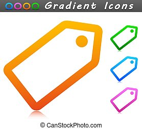 etikett, ikon, symbol, pris, vektor