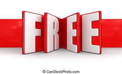 etikett, med, gratis