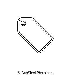 etikett, symbol., etikett, rabatt, vektor, element