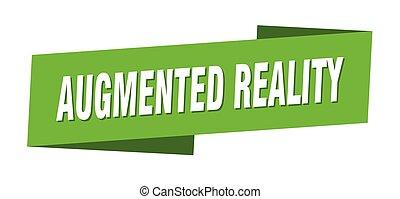 etikett, wirklichkeit, augmented, banner, zeichen, template...