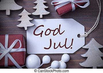 etikette, gave, træ, gud, jul, betyder, glædelig jul