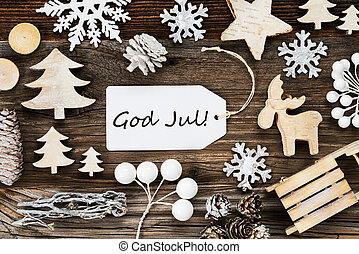 etikette, merry, ramme, betyder, jul, gud, jul