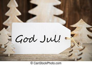 etikette, merry, træ, betyder, jul, gud, jul