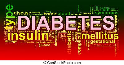 etikette, wort, zuckerkrankheit