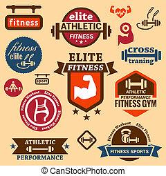 etiketten, fitness