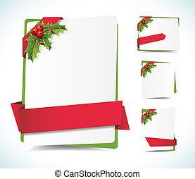 etiketten, kerstmis, achtergrond