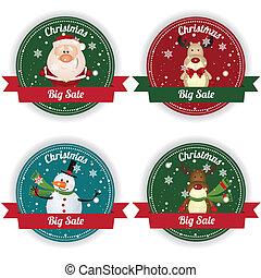 etiketten, kerstmis