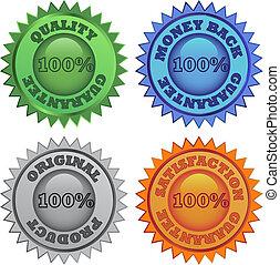 etiketten, kleuren, set, detailhandel
