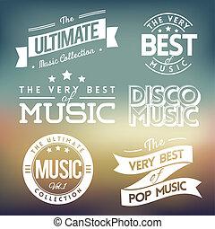 etiketten, muziek