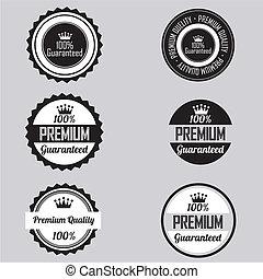 etiketten, premie
