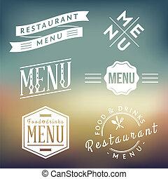 etiketten, restaurant