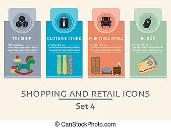 Etiketten, shoppen, Detailhandel
