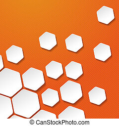 etiketten, streifen, papier, hintergrund, orange, weißes, ...
