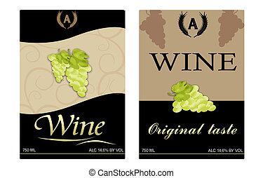 etiketten, wijntje