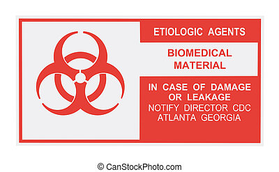 etiologic, agenten, waarschuwingsetiket