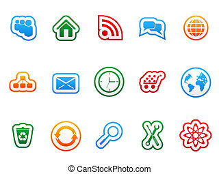 etiqueta, ícones
