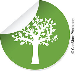 etiqueta, com, árvore