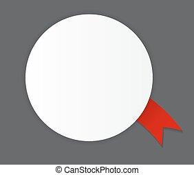 etiqueta, con, cinta, vector, ilustración