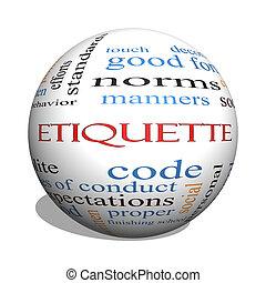 etiqueta, concepto, palabra, esfera, nube, 3d