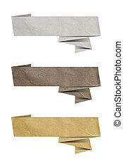 etiqueta de papel, origami