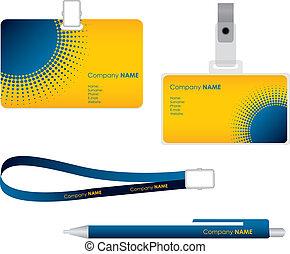 etiqueta, nombre, tarjeta, identificación