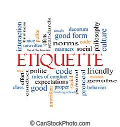 etiqueta, palabra, nube, concepto