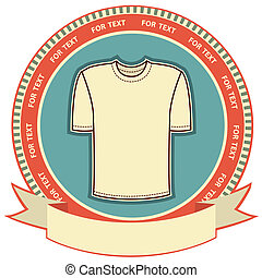 etiqueta, plano de fondo, camiseta, conjunto, white., vector...