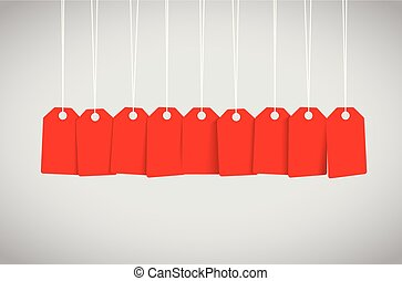 etiqueta roja, conjunto