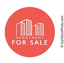 etiqueta, venta, apartamento, diseño, :