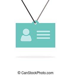 etiquetadel nombre, identificación, icono, insignia, tarjeta