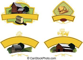 etiquetas, agricultura