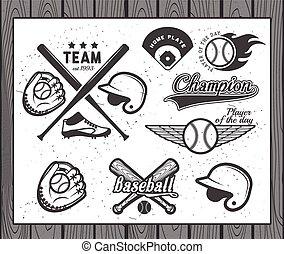 etiquetas, basebol