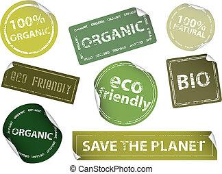 etiquetas, eco-amigável