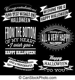 etiquetas, feriado, jogo, dia das bruxas