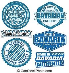 etiquetas, selos, feito, bavaria, ou